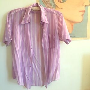 Vintage chiffon short sleeve button up